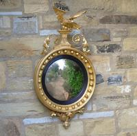 Outstanding Regency Giltwood Mirror With Eagle Crest (4 of 10)