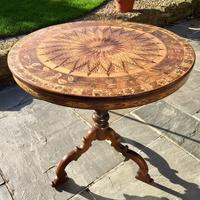 A Fine 19th C Italian Inlaid Parquetry Occasional, Centre Table with Rare Hidden Writing Slope