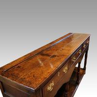 Georgian Oak Inlaid Dresser Base (7 of 11)