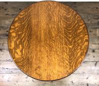 Early 20th Century Antique Oak Circular Occasional Table (4 of 6)