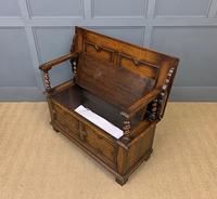 Jacobean Style Oak Monks Bench (12 of 14)