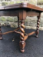 Antique Oak Barley Twist Extending Dining Table (3 of 9)