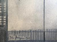 Original Mixed Media Drawing 'industrial Street' by John Thompson Signed & Dated 1981 - Framed (2 of 3)