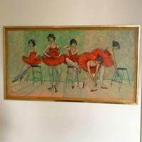 Large Oil on Board Painting by Martin Wieland 1981 (5 of 6)