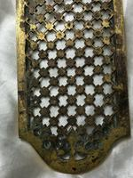 19th Century Antique Regency Gilt Bronze Coat of Arms Sunflower Acanthus Plaque (4 of 12)