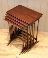 Mahogany Nest of Four Tables (5 of 11)