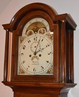 Lovely 19th Century Eight Day Mahogany Moon Rolling Longcase Clock by Mann of Norwich c.1810-1830 (9 of 10)