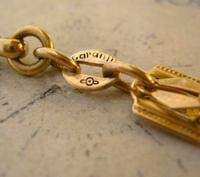 Antique Pocket Watch Chain 1920s Large Brass Fancy Link Albert New Old Stock (10 of 12)