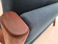 Completely renovated sofa, 70s, furniture wool, teak (8 of 13)
