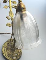 A Good Edwardian Gilt Brass Novelty Heron / Stork Table Lamp C.early 20thc (5 of 7)