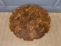 Queen Anne Style Round Burr Walnut Coffee Table (3 of 6)
