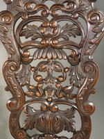 Remarkable Pair of Late 19th Century Walnut Throne Chairs (6 of 10)