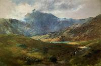 (2of2) Huge Magnificent 19thc Snowdonia Mountain Welsh Landscape Oil Painting (9 of 13)