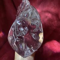 "Daum ""tete de Cheval"" Crystal Horse Head Sculpture c.1960 (9 of 9)"
