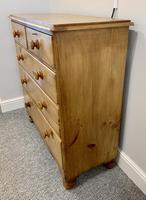 Antique Victorian Pine Chest of Drawers with Key (5 of 15)