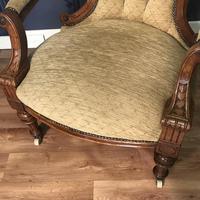Quality Victorian Walnut Armchair (7 of 14)