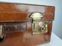 Large Leather Vintage Suitcase (3 of 10)