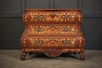 18th Century Dutch Marquetry Inlaid Walnut Bombe Shaped Chest (11 of 11)
