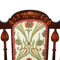 Art Nouveau Inlaid Mahogany Armchair (7 of 8)