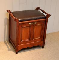Edwardian Walnut Piano Stool (5 of 9)