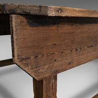 Large Antique Textiles Table, English, Pine, Shop, Retail, Display, Victorian (10 of 12)
