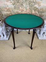 Carved Georgian Style Fold Over Card Table (8 of 8)