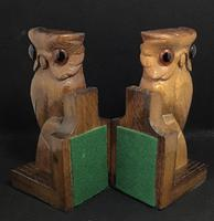 Pair of Vintage Carved Owl Bookends (5 of 5)