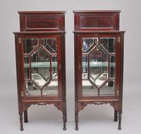 Pair of Early 20th Century Mahogany Display Cabinets (3 of 9)