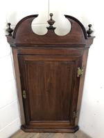 Antique Georgian Mahogany Hanging Corner Cupboard (10 of 11)
