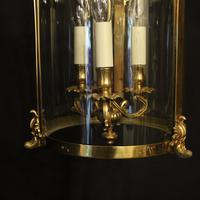 French Gilt Bronze Convex Antique Hall Lantern (7 of 10)