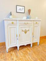French Oak Sideboard / Buffet / Cupboard Topped in Statuario Marble (4 of 10)