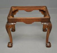 Antique Georgian Style Oak Stool c.1920 (10 of 12)