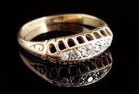 Antique Diamond Five Stone Ring, 18ct Gold, Edwardian (9 of 12)