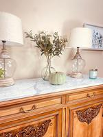 French Antique Sideboard / Walnut Buffet / Marble Cupboard (3 of 10)