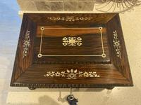William IV Rosewood Sarcophagus Box with Inlay (13 of 13)