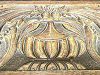 Antique Oak Carved Desk (8 of 13)