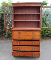 1880 Mahogany Secretaire Bookcase (3 of 5)