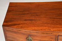 Antique Georgian Mahogany Bow Front Chest of Drawers (4 of 10)