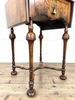 19th Century Walnut Drop Leaf Side Table (3 of 11)