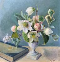 Fabulous Original 20th Century Floral Still Life Study Oil on Board Painting (4 of 11)