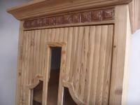 Art Deco Pine 1 Door Linen / Bathroom / Storage Cupboard to wax / paint (6 of 9)