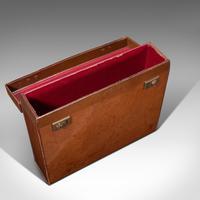 Antique Folio Case, English, Leather, Record Producer's Attache Briefcase, 1920 (8 of 12)