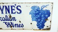 Rare Late Victorian Enamel Burgoynes Australian Wine Sign Extremely Large (10 of 10)