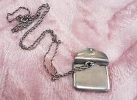 Sterling Silver Stamp Envelope on Silver Chain (2 of 3)