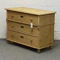 Large Old Pine Chest Of Drawers (3 of 4)