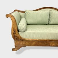 Walnut Biedermeier Sleight Style Sofa (3 of 10)