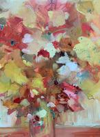 Lovely 20th Century British Impressionist School Floral Still Life Oil Painting (7 of 10)