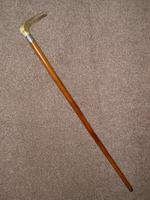 Victorian Hallmarked 1899 Repousse Silver Walking Stick With Antler Handle 'C.H' (12 of 12)