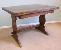 Refectory Oak Draw Leaf Dining Table c.1930 (2 of 11)