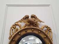 Antique Regency carved Convex Mirror c 1820 (3 of 6)